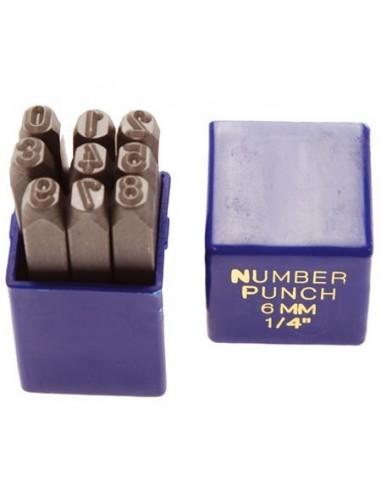 Serie punzoni numerici in acciaio...