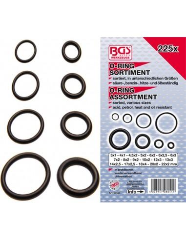 Assortimento o-ring da 3 a 22 mm 225 pz.