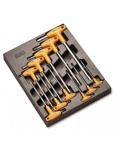 Serie 8 chiavi maschio esagonali con...