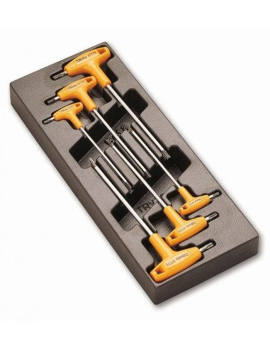 Serie 6 chiavi maschio TORX con...